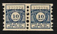 Thrift Savings Deposit Stamps 10 Cent Coil Pair