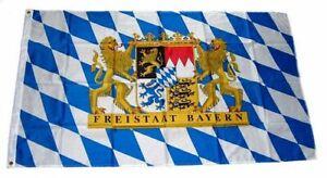 Fahne / Flagge Freistaat Bayern Löwe Schrift 60 x 90 cm