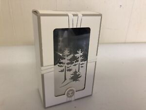 Jette Frolich Denmark Tree Votive Candle Holder Metal Silver Tone In Box Light