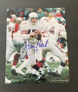 Jim Hart Signed 8 x 10 Photo No COA St. Louis Cardinals ((NFL) ProLook