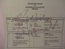 ~RARE GENUINE HAND SIGNED ZOE WANAMAKER MY FAMILY PRE-RECORD ORDER~UACC MEMBER~