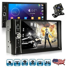 "2DIN 7"" HD Car Stereo Radio MP5 Player Bluetooth Touch Screen Parking Camera US"