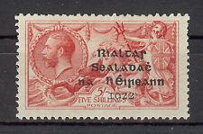 IRELAND 1922 SEAHORSE DOLLARD? THOM? OVERPRINT ON 5/- ROSE RED MH SEE PICS SG45?