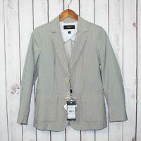MaxMara Weekend Women's Sabbia 2 Button Closure Vented Blazer Jacket Dark Gray
