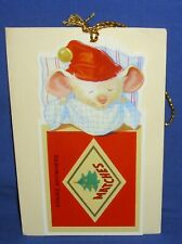 Hallmark Christmas Keepers Hanging Card Gift Tag A Matchless Christmas Mouse