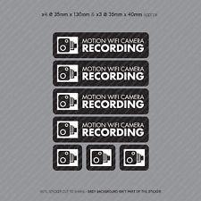 7 x Motion WiFi Camera Recording Stickers CCTV In Car Dash Video Sticker SKU4068