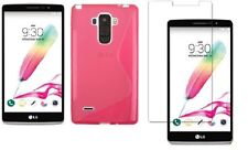 PINK S-LINE TPU CASE + SCREEN PROTECTOR ACCESSORY FOR VIRGIN MOBILE LG G STYLO