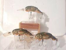 LOT  OF 3 REBEL BIG CRAW CRANKBAIT FISHING LURES
