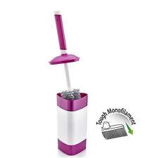 PURPLE Toilet Bathroom Standing Brush Single Head Rim Cleaner Plastic Holder WC