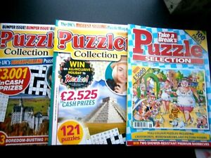 1 Take A break Puzzle Sections  & 2 Puzzler Collection Puzzle Book 2016/2020