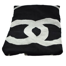 Authentic CHANEL Jumbo Blanket Merino Wool 90% Cashmere 10% Scotland AK12944