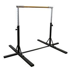 Junior Gymnastics Training Bar Adjustable Horizontal Kip Bar For Kid Black