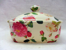 Reudote rose butterdish by Heron Cross Pottery