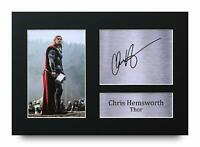 Chris Hemsworth Signed A4 Framed Printed Autograph Print Thor Avengers Gift