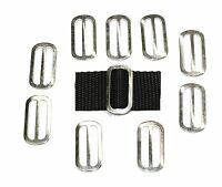 Slides Buckles 10 x 25mm zinc plated OVAL 3 Bar  for 25mm Webbing Handy Straps