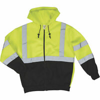 Forester Men's Class-High Visibility Hooded Safety Sweatshirt