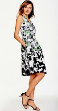 NWT TALBOTS WOMEN COTTON FLORAL PRINT OPRAH COLLECTION SHIFT DRESS SIZE 16W($209