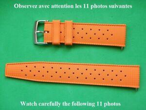 22 mm INTERCHANGEABLE BRACELET ORANGE TYPE TROPIC IDÉAL COMPRESSOR PLONGÉE DIVER
