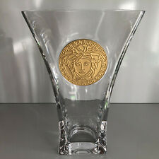 VERSACE Medusa Madness Clear VASE 11 inch (28 cm) New in Box Rosenthal