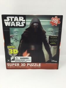"""Star Wars Super 3-D Puzzle THE FORCE AWAKENS 150 Pieces  12"""" x 18"""". Sealed New"""