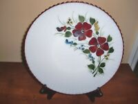 USA Made~MOUNTAIN FLOWERS~PETALWARE~DEPRESSION 10 7/8inch~DINNER PLATE~STAMPED~