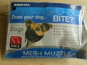 Ancol mesh muzzle for dogs, size 2 brand new!!