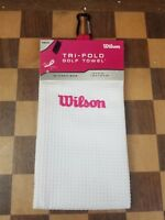 Wilson Tri-Fold Golf Towel. White-Microfiber. 16x21 Inches. New With Tags