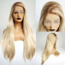 24 Inches Gotik Gelatt Lace Front Wig Cosplay Perücke Damenhaar Blond Braun mix