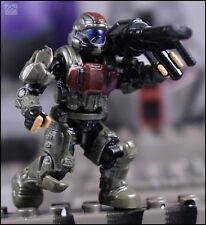 HALO MEGA BLOKS CONSTRUX CUSTOM BLACKWASHED UNSC ODST BUCK MICKEY MINI FIGURE
