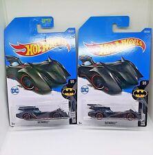 2017 Hot Wheels Batmobile (Batman) - No. 190 - Metalflake Black - Set of 2