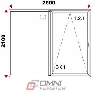 Schiebetür 2500 x 2100 mm Terrassentür Balkontür Polen Kunststofffenster auf Maß