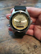 Casio Gold Dial AMW-320R 5153 Module Alarm Chrono 100M Diver Mens Watch Nice!!