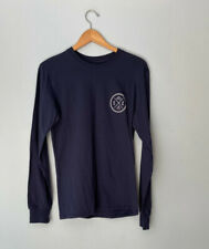 Sand Cloud Long Sleeve Graphic T-Shirt Navy Blue Small Eco Save The Fish Ocean