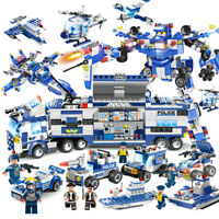Lego City Special Police Series SWAT: 8 IN 1 with Truck Station Building Blocks