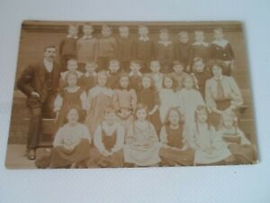 Group of Children - Possibly School Class - Vintage Real Photo Postcard  §ZD733