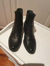 Wittner womens black leather chelsea pull on ankle boot size 39