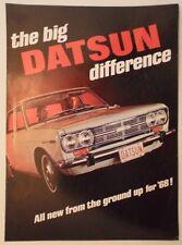 DATSUN RANGE orig 1968 USA Mkt Brochure - 2000 Sports SRL-311 Sedan Pickup Wagon
