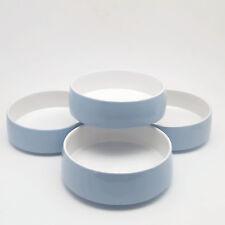 Vintage Dansk Bornholm Blue Coupe Soup Bowls Set of 4