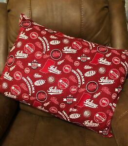 Indiana Hoosiers Home State Size STANDARD PILLOW SHAM Fabric Homemade
