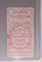 1900 SALMON AND GLUCKSTEIN LONDON CIGARETTES CIGARS TOBACCO OWNER'S JOCKEYS