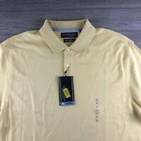 ROUNDTREE & YORKE Supima Cotton SHORT SLEEVES SHIRTS Size Large Yellow (Y123)