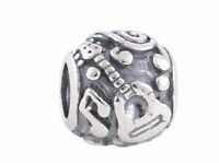 music guitar note charm charms bead bracelet bangle gift silver pd european UK