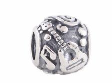 music guitar note charm charms bead bracelet bangle gift silver pd european UK