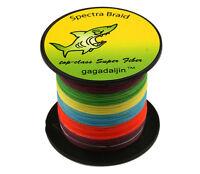 8 Strand Braid Multicolor PE 100-1000M 6-300LB Power Super Strong Fishing Line