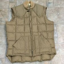 """Vtg Walls Blizzard Pruf Quilted Puffer VEST Full Zip Western Cut Mens M? 42"""" USA"""