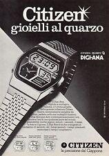 Pubblicità Advertising Werbung 1979 CITIZEN DIGI-ANA
