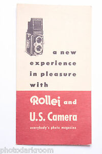 Rollei & US Camera Magazine Promotional Subscription Letter - English - USED B14