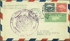 #C5, #6, #C9 LZ127 1928 ROUND THE WORLD FLIGHT COVER L.A. TO LAKEHURST BR565