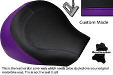 PURPLE & BLACK CUSTOM FITS SUZUKI INTRUDER VL 1500 98-04 FRONT SEAT COVER