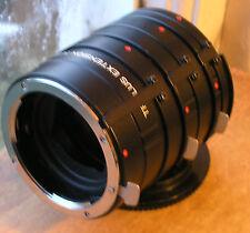 Nikon AI fit  Auto extension tubes set (japan) TRIPLUS badged used